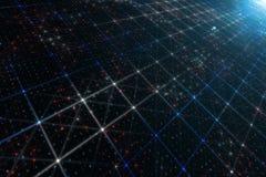 Abstract computernetwerk netto met binaire aantallen Royalty-vrije Stock Foto's