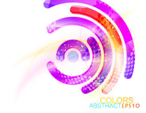 Abstract concave colors shape scene vector Stock Photos