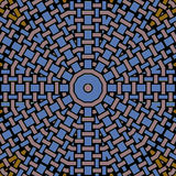 Abstract concentric circle pattern beige brown blue black netting Royalty Free Stock Photo