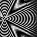 Abstract concentric circles texture in black and white colors, background pattern in modern style. Vector illustrarion Royalty Free Stock Photography