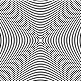 Abstract concentric circles texture in black and white colors, background pattern in modern style. Vector illustrarion stock illustration