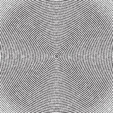 Abstract concentric circles texture in black and white colors, background pattern in modern style. Vector illustrarion royalty free illustration
