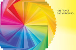 Abstract concentric colorwheel banner Royalty Free Stock Photography