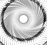 Abstract concentric element with radial lines. Circular spiral p Stock Images