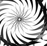 Abstract concentric element with radial lines. Circular spiral p Stock Photography