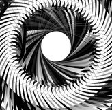 Abstract concentric element with radial lines. Circular spiral p Royalty Free Stock Photography