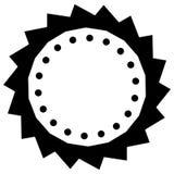 Abstract concentric mandala, motif design element. Circular geom Stock Photo