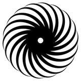 Abstract concentric mandala, motif design element. Circular geom Royalty Free Stock Image