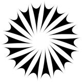 Abstract concentric mandala, motif design element. Circular geom Royalty Free Stock Images