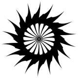 Abstract concentric mandala, motif design element. Circular geom Royalty Free Stock Photos