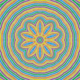 Abstract concentric pattern background. Abstract concentric pattern from colorful lines on gray background Royalty Free Stock Photography