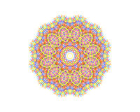 Abstract concentric pattern from color lines Royalty Free Stock Photography