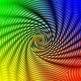 abstract concentric rainbow spiral Στοκ Φωτογραφία
