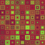 Abstract concentric square mosaic background. Abstract concentric square mosaic vector background design Stock Photography