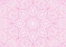 Abstract concentrisch overzichts roze patroon royalty-vrije illustratie