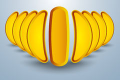 Abstract concept of banana like formation Stock Photo