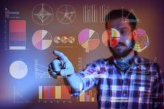 Abstract concept bedrijfssucces, de groei en globalisering Stock Afbeelding