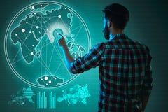 Abstract concept bedrijfssucces, de groei en globalisering Royalty-vrije Stock Foto