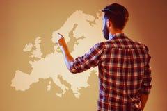 Abstract concept bedrijfssucces, de groei en globalisering Stock Foto's