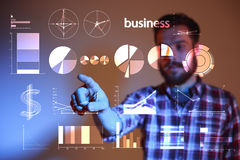 Abstract concept of business success, growth and globalization Royalty Free Stock Image