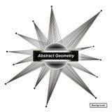 Abstract concept De achtergrondontwerp van de Minimalisticmanier Zwart, wit ruimtesterpictogram Textuur van de explosie de lichte Royalty-vrije Stock Fotografie