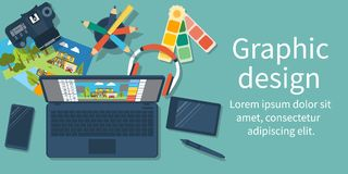 Abstract concept of development of graphic design vector illustration