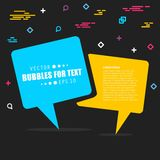 Abstract concept  empty speech square quote text bubble. For web and mobile app  on background, illustration templat Royalty Free Stock Images