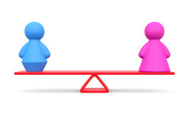 Abstract concept of gender equality Royalty Free Stock Photography