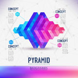 Abstract concept geometric Pyramid Stock Images