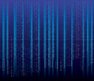 Binary code blues. Abstract concept graphic data, technology, decryption, algorithm, encryption element, Vector binary code background vector illustration