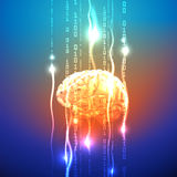 Abstract concept of human brain activity Stock Photo