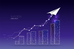 Abstract concept illustration. graph of business. 