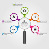 Abstract concept infographic template target with darts. Vector design Stock Photos
