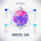 Abstract concept isometric cube Royalty Free Stock Photos