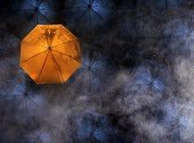abstract concept leider met met vele dark en oranje umbr Royalty-vrije Stock Afbeeldingen