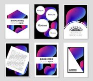 Abstract concept  monochrome geometric pattern. Black and white minimal background. Creative illustration template. Seamless. Abstract  layout background set Stock Photo