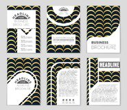 Abstract concept monochrome geometric pattern. Black and white minimal background. Creative illustration template. Seamless. Abstract layout background set. For stock illustration