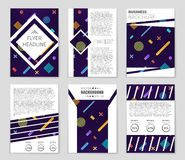 Abstract concept  monochrome geometric pattern. Black and white minimal background. Creative illustration template. Seamless. Abstract  layout background set Stock Image
