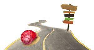 Abstract concept slak met rode shell Stock Afbeelding