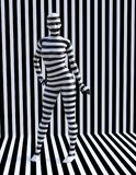 Surreal Zebra Woman, Stripes, Girl Stock Photos