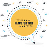 Abstract concept vector empty speech square quote text bubble. For web and mobile app isolated on background Stock Photography