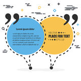 Abstract concept vector empty speech square quote text bubble. For web and mobile app isolated on background Stock Image