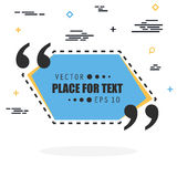 Abstract concept vector empty speech square quote text bubble. For web and mobile app isolated on background Royalty Free Stock Photo