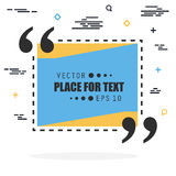 Abstract concept vector empty speech square quote text bubble. For web and mobile app isolated on background Royalty Free Stock Photography