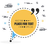 Abstract concept vector empty speech square quote text bubble. For web and mobile app isolated on background Royalty Free Stock Images