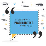 Abstract concept vector empty speech square quote text bubble. For web and mobile app isolated on background Stock Images