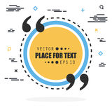 Abstract concept vector empty speech square quote text bubble. For web and mobile app isolated on background Stock Photos