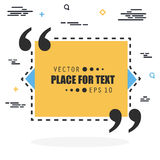 Abstract concept vector empty speech square quote text bubble. For web and mobile app isolated on background Royalty Free Stock Photos