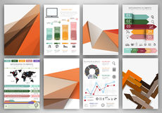 Abstract concept vector icons and orange creative backgrounds Royalty Free Stock Photography
