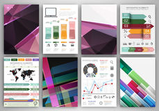 Abstract concept vector icons and purple creative backgrounds Royalty Free Stock Photos
